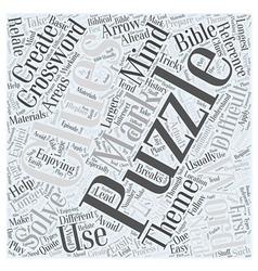 Enjoying crossword mind puzzles word cloud concept vector