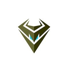 Evil robot head symbol vector