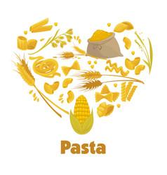 Exquisite delicious italian pasta advertisement vector