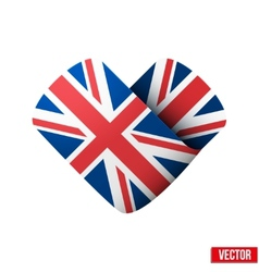 Flag icon in the form of heart I love United vector image vector image