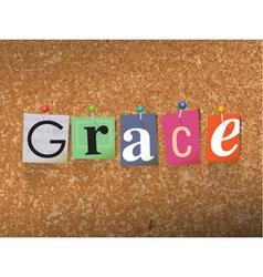 Grace concept vector
