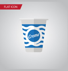 isolated cream flat icon yogurt element vector image