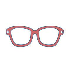 Isolated sunglasses cartoon vector