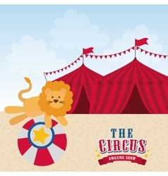 Lion icon circus and carnival design vector