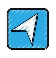 location pointer application icon vector image