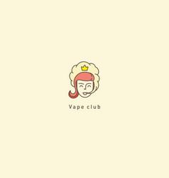 Logo for the vape clubprincess and smoke vector