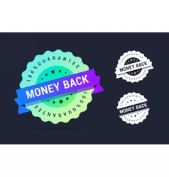 Money back guarantee badge vector