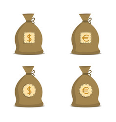 money bag set vector image