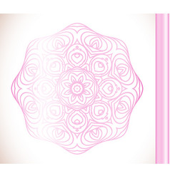 ornamental round lace pink flower vector image vector image