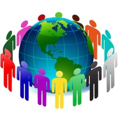 people on earth vector image