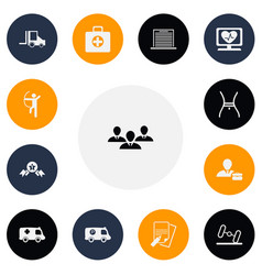 Set of 13 editable mixed icons includes symbols vector