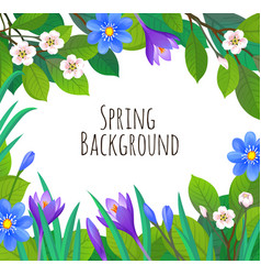Spring and summer banner template vector