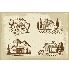 Summer cottage vector