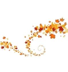 Swirl of leaves vector