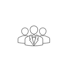 team leader line icon people business vector image
