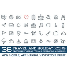 Travel icons set great for all purposes like print vector