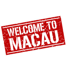 Welcome to macau stamp vector