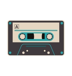 Single cassette icon vector