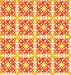 Seamless embroidered texture of abstract patterns vector