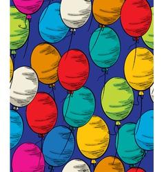 Party balloon seamless vector image