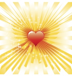 glowing heart vector image