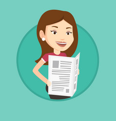 woman reading newspaper vector image