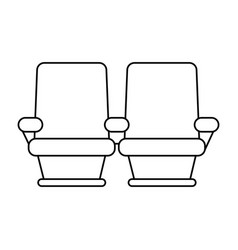 Theater seats icon image vector