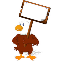 Eagle cartoon posing vector