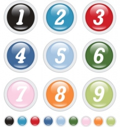 Number buttons vector