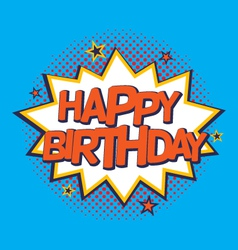 Comic strip birthday card vector