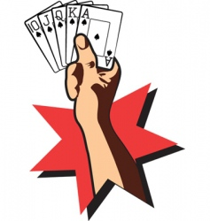 Cards royal flush vector