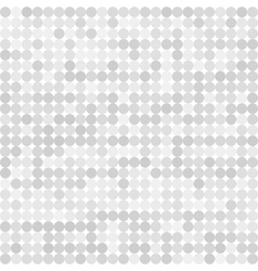 Abstract digital grey circles on white background vector