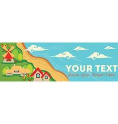 little farm banner vector image