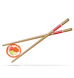 sushi and chopsticks 01 vector image