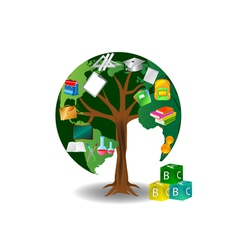 education tree vector image