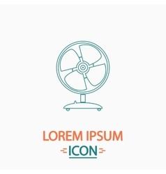 Fan computer symbol vector