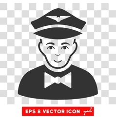 Airline steward eps icon vector