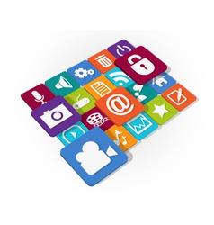 Application web icons design vector