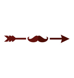 Arrow with mustache vector