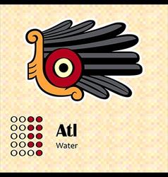 Aztec symbol atl vector