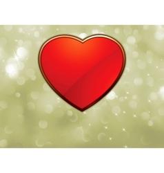 beautiful valentine heart vector image vector image