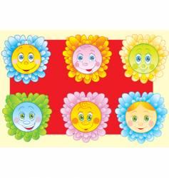 cheerful chamomiles vector image