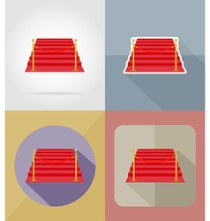 cinema flat icons 16 vector image
