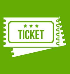 circus show tickets icon green vector image vector image