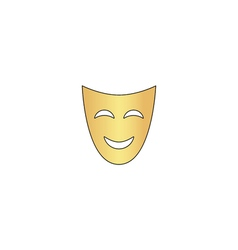 comedy mask computer symbol vector image