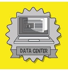 Data center laptop doc vector