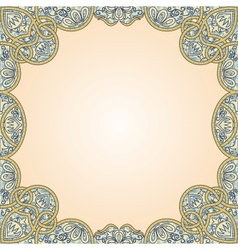 floral arabesque seamless background vector image vector image