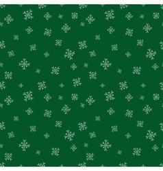 Green snowflalls seamless pattern Christmas vector image vector image