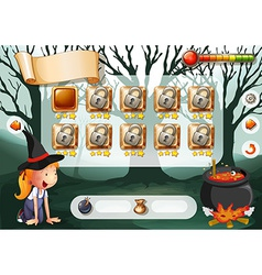 Halloween game vector image