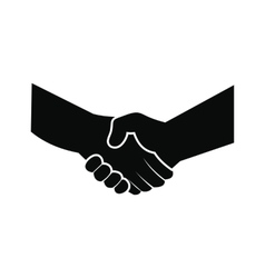 Handshake black simple icon vector image
